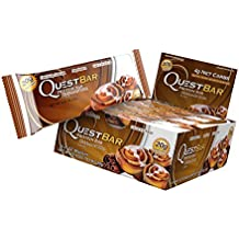 Quest Nutrition Cinnamon Roll Protein Bars - Pack of 12 Protein Bars