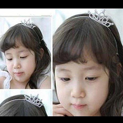 joyliveCY accesorios para el pelo para las mujeres Rhinestone cristal corona peine pelo Clip Tiara Corona para los niños