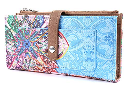 Desigual Accessoire Mone Mexican Cards Pia Börse mit Druckknopf 20 cm Azul agua