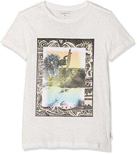 Quiksilver Jungen Borderline YTH B TEES WBKH Screen Tee, Snow White - Heather, M/12 (Beach T-shirt Youth)