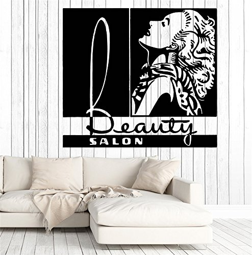 wandaufkleber babyzimmer junge Frauenhaar für Schönheitssalon