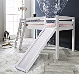 Cabin Bed Thor Midsleeper with Slide in Choice of Colours Noa & Nani (White)