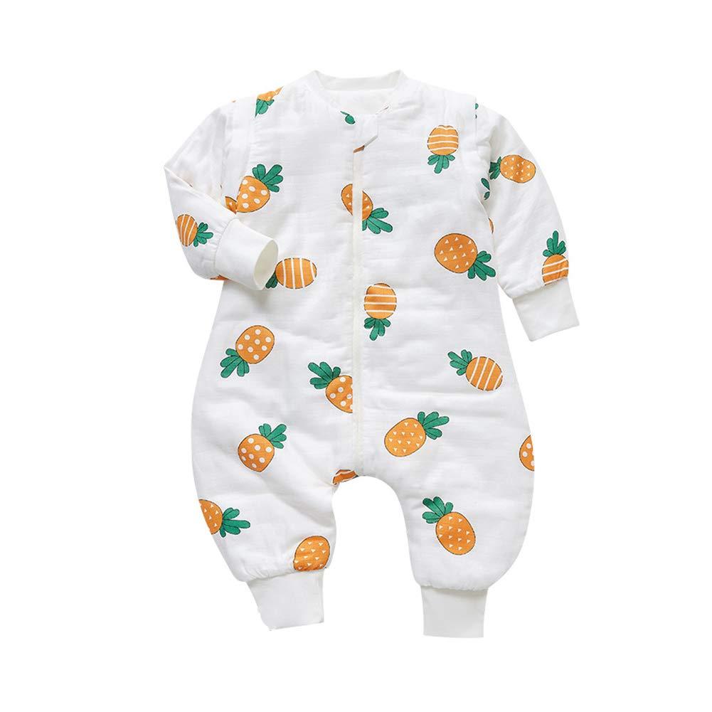 Saco de dormir Jumper para bebé con piernas y mangas desmontables para invierno, de algodón grueso, saco de dormir para bebé de manga larga de invierno 2,5 tog. Bluefox. Talla:80cm/Baby Höhe 65-85cm