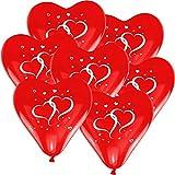 10x Herzluftballon 'Herzen' Rot Ø30cm + Geschenkkarte + PORTOFREI mgl. + Helium & Ballongas geeignet. High Quality Premium Ballons vom Luftballonprofi & deutschen Heliumballon Experten. Luftballon Deko zur Hochzeitsfeier und tolles Luftballon Geschenk zur Hochzeit.