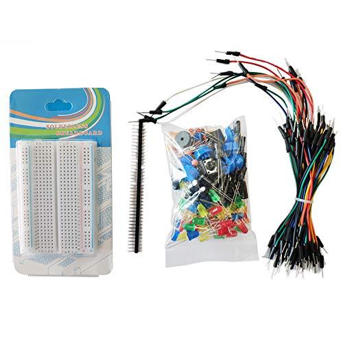 XZANTE Starter Kit Für Widerst?nde/Led/Kondensator/überbrückungs Kabel/Steckplatine Resistor Kit