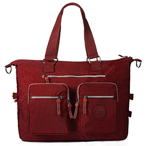 Oakarbo, Borsa tote donna blu 1212 Turquoise blue large 1212 Red