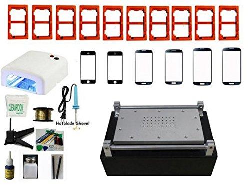Gowe Neueste Full Kit Update Metall Fall LCD-Separator Maschine integrierte Vakuum Pumpe für iPhone Samsung, beheben Zerbrochenes Glas Objektiv