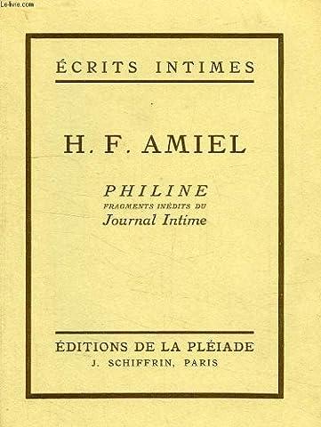 Philine, fragments inédits du Journal
