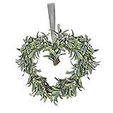 43cm Muérdago Forma De Corazón Guirnalda de Navidad