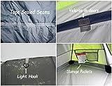 GEERTOP Bivvy Biwaksack Trekkingzelt Campingzelt Zelt Minipack Leicht – 213 x 101 x 91 cm H (1,9kg) -1 Person 3 Jahreszeiten für Outdoor-Camping Wandern Reisen und Klettern (grau) - 5