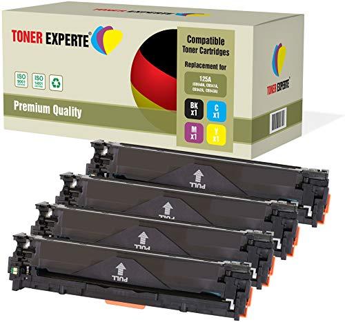 4er Set TONER EXPERTE® Premium Toner kompatibel zu HP 125A CB540A CB541A CB542A CB543A für HP Color Laserjet CM1312 CM1312nf CM1312nfi CP1215 CP1217 CP1514n CP1515n CP1518ni -