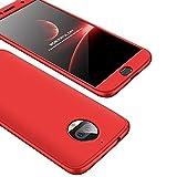 #7: JUMP START Ultra Slim Thin 360 Degree Full Body Protection Hard PC Premium Case Cover For Moto G5s Plus - Red