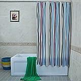 ZXLDP Cortinas de ducha Espesar El Baño De PEVA Que Cuelga Cortinas / Cortina De Ducha Blanca Impermeable Y Del Moho ( Tamaño Opcional) Accesorios de baño ( Tamaño : 200*180CM )