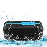 Fetta Tragbarer Wasserdichter Bluetooth Lautsprecher Speaker Boombox mit 1800mAh Powerbank für iPhone, iPad, Samsung, Nexus,und andere Android Geräte (Blau)