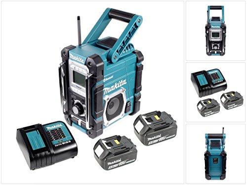 Makita Radio DMR 106 7,2-18 V Akku Baustellen Radio Solo + 2x 5,0 Ah Akku + Ladegerät