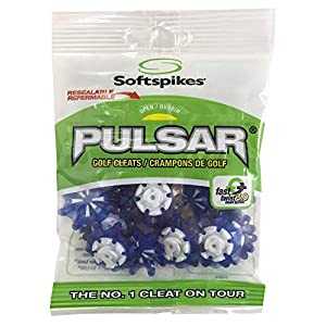 Softspikes Pulsar Cleat (FTS 3.0), Azure/White, Bag of 1 set