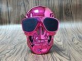 MLL Shantou Bluetooth Lautsprecher Wireless Lautsprecher Geist Kopf Kreative Persönlichkeit Bulldog Körper Big Dog Kopf,Rose Rot,13 * 10 * 13 cm
