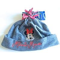 Réf5B80 LIC.224-Berretto in pile, motivo: Minnie, per bambini, colore: grigio, con licenza ufficiale Disney Minnie Mouse, taglia: 16,3 2-3