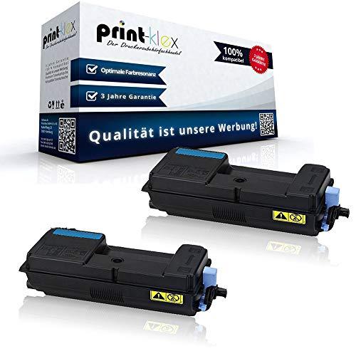 2x Kompatible Tonerkartuschen für Kyocera ECOSYS P3045dn P3050dn 1T02T90NL0 TK 3160 K TK-3160 K TK3160K Schwarz Black - Office Print Serie -
