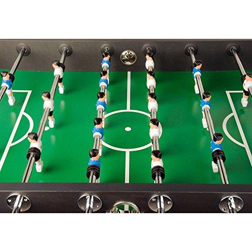 """Tischfussball """"Leeds"""", 4 Farbvarianten, inkl. 4 Bälle + Getränkehalter, nahtlos hochgezogene Spielfeldecken -"""