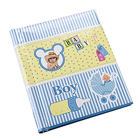 Arpan Large Cute Baby Boy Self Adhesive Spiral Bound Photo Album x 1 - Blue by ARPAN