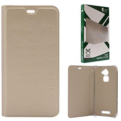 DMG Premium PU Leather Flip Cover Case for Coolpad Note 3 Lite (Gold)