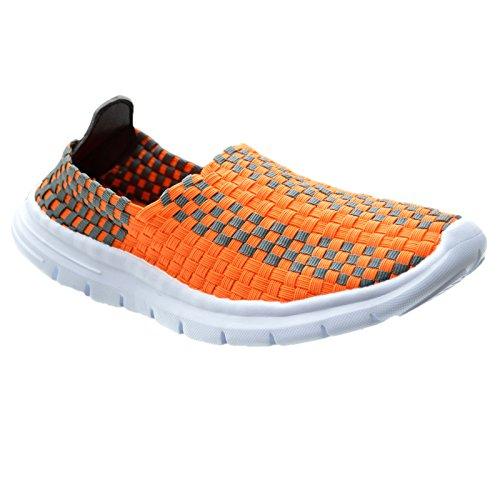 Xelay, Damen Sneaker Low-tops Grau / Orange