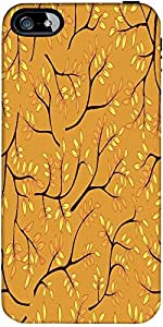 Snoogg A Seamless Pattern With Leaf Designer Case Cover For Apple Iphone 5C / 5C