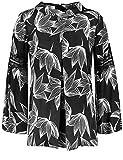 GERRY WEBER Bluse Tunika Bluse in Kimonoform Schwarz-Weiß 42