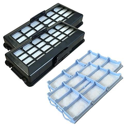 PakTrade Set - 2X HEPA Filter + 2X Motorfilter geeignet Für Bosch BSG 71666/07-/17 Hygienixx