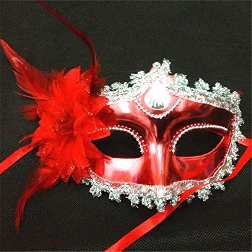 Masquerade Ball Christmas Kostüm - MASKUOY Halloween-Maske Frauen Kostüm Shell Blume Prom Maske Karneval Party Dance Masquerade Ball Halloween Maske Kostüm