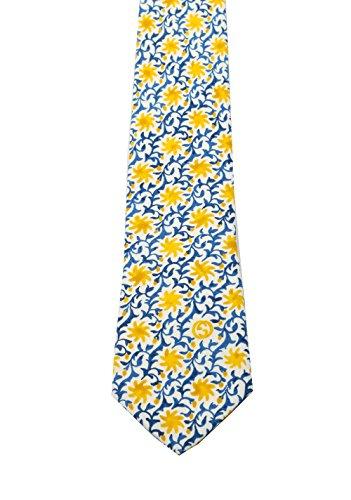 Gucci-krawatten Männer Für (CL - Gucci Blue Patterned Flower Tie)