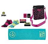 Zumba Fitness Zubehör- und Trainingsset | Zumba, der Fitness-Trend | Umhängetasche, Handtuch, Stirn- und Schweißbänder, Kompressionsstrümpfe im Zumba-Design
