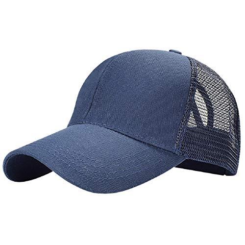 Tuopuda Cappellino da Baseball Sonnena Berretto da Baseball Tinta Unita Berretto di Coda di Cavallo Cappello Snapback Regolabile da Baseball...