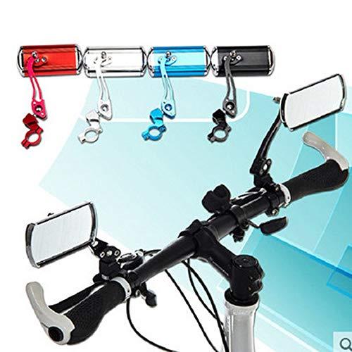 CHOULI Fahrradlenker Rückspiegel Fahrrad Aluminiumlegierung Rückspiegel schwarz