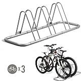 3 Bike Bicycle Floor Parking Rack Storage St - Best Reviews Guide