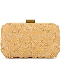 SVAZ Designer Delicate Hand Embroidery, Thread Work Clutches For Women And Girls