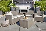 immagine prodotto Corona set giardino ALLIBERT con tavolino storage porta cuscino sabbia