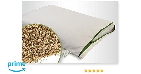 mudis Naturkissen/&mehr Reisekissen-Kinderkissen 30x45cm,100/% Bio Hirseschalen,mit abnehmbaren waschbares 100/% Bio Baumwolle-Inlett