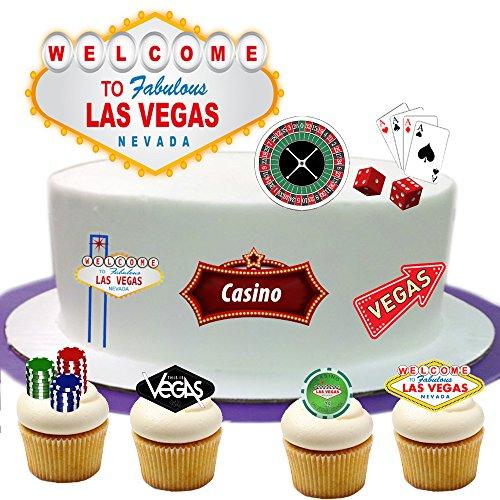 Las Vegas Stand Up Kuchen Szene aus Essbar Wafer Papier–Perfekt für Dekorieren Ihre Dekorationen einfach zu (Vegas Dekoration Las)