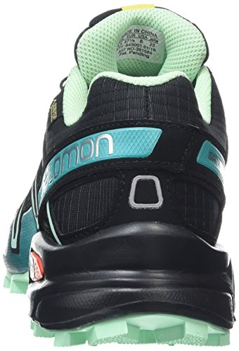 Salomon Speedcross 3, Chaussures de Running Compétition Femme Noir (Black/Lucite Green/Teal Blue F)