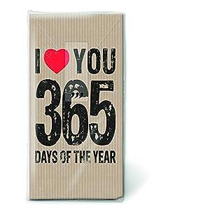 Bedruckte Taschentücher Love – Ich Liebe Dich 365 Tage Im Jahr