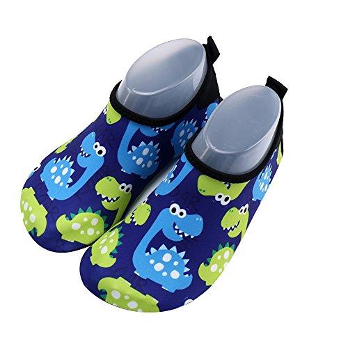Xueliee Kleinkinder Schuhe Kids Swim Wasser Schuhe Jungen Mädchen Barefoot Aqua Wasser Schuhe Strand schwimmen, Alphabet Dinosaur 22-23
