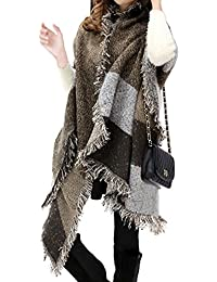 Lantch Grosse Echarpe Plaid Femme Tissu Grand Châle Mode Hiver b3e04139374