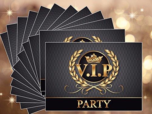"""""""VIP-PARTY-EINLADUNGEN"""": 12-er-Set edle Einladungskarten zur VIP-Party oder Kindergeburtstag von EDITION COLIBRI © – umweltfreundlich, da klimaneutral gedruckt - 3"""