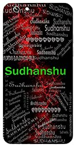 Sudhanshu (Moon, Camphor) Name & Sign Printed All over customize & Personalized!! Protective back cover for your Smart Phone : Lenovo S-820