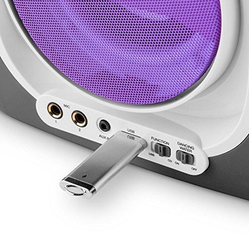 Auna Kara Liquida Karaoke Player mit Wasserfontäne (weiß) - 7