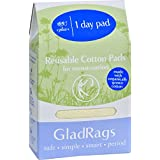 Glad Rags GladRags Day Pad - Plus - Cotton - Organic - Natural - 1 Count (Pack of 2)