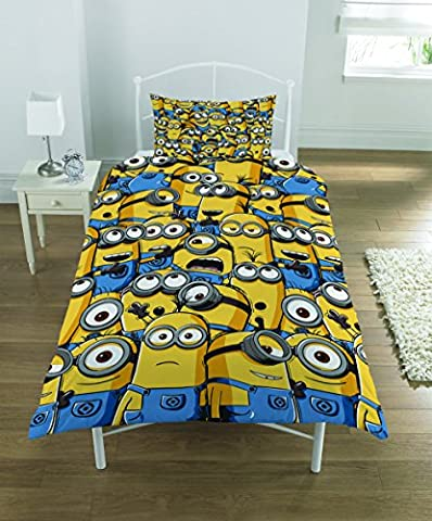 OFFICIAL Despicable Me Minions Army Single Duvet Cover Bed Set Kids Bedding GIFT