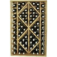 Expovinalia Botellero con Capacidad para 70 Botellas, Madera, Roble Claro, 68x32x105 cm